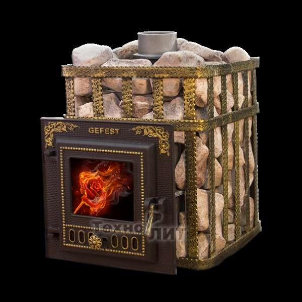 Чугунная банная печь Гефест - ПБ-03-МС (до 25 м. куб.)