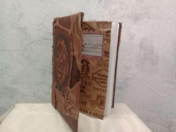 Кожаный ежедневник. Лев. Натуральная кожа. handmade в Барнауле фото 3