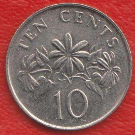 Сингапур 10 цент 1989 г.