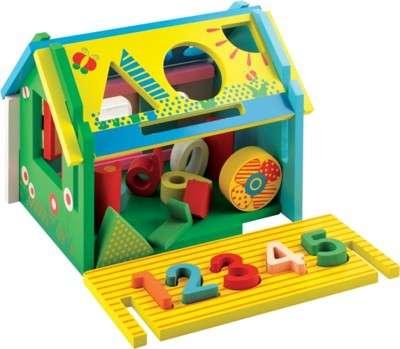 Игрушка деревянная домик фигур A-075 новая