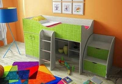 Кровать чердак текстиль Фанки Кидз-6 СВ