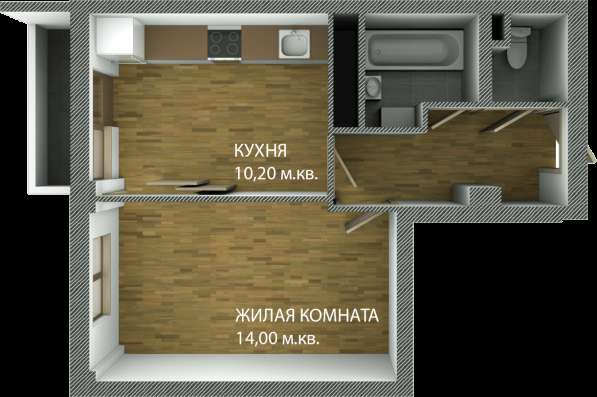 Квартира 1 км в ЖК Пионер