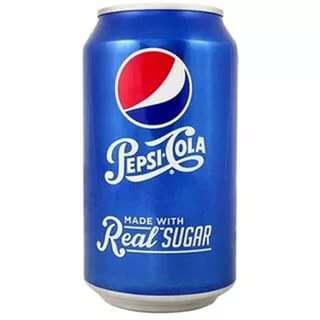 Pepsi-Cola Real Sugar в жестяной банке, 0.355 литра, США