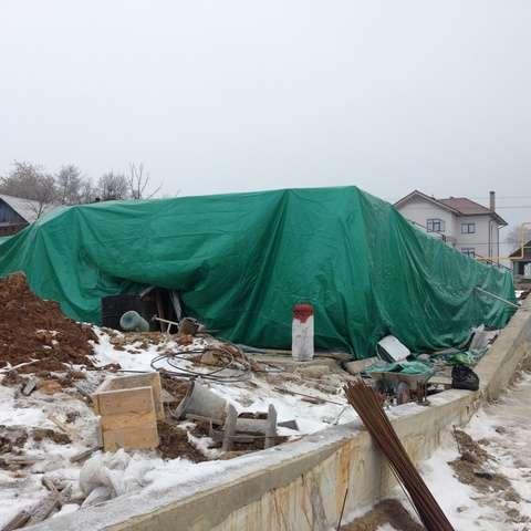 Тарпаулиновый тент для стройки в Екатеринбурге фото 17