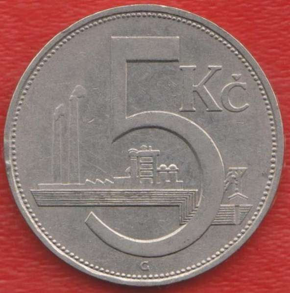 Чехословакия 5 крон 1938 г.