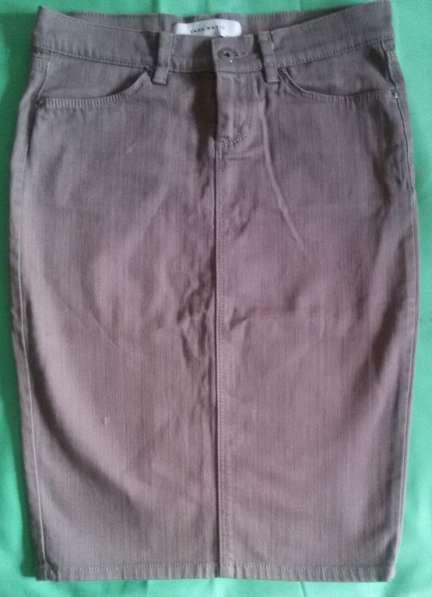 Юбка джинсовая кофейная, р-р 44