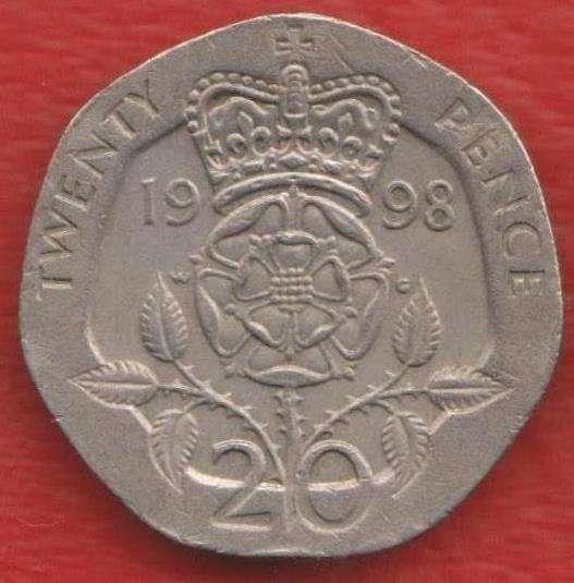 Великобритания Англия 20 пенни 1998 г. Елизавета II
