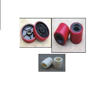 Ролики и рулевые колеса для рохлей, гидравлических тележек.