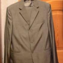 Мужской костюм, серо-зеленый, в Москве