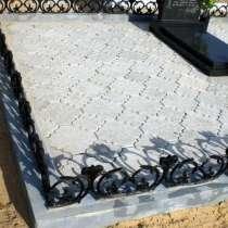 Укладка тротуарной плитки на кладбище, в г.Мариуполь