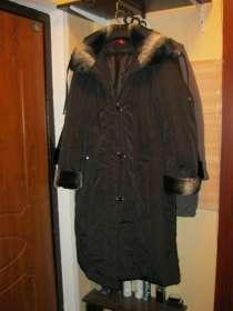 Демисезонное пальто с капюшоном размер 50-52, в Санкт-Петербурге
