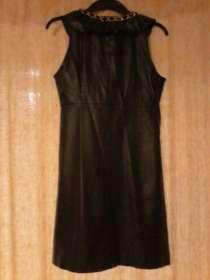 Дёшево продам красивое чёрное платье(кожзам) в хорошем сост!, в г.Кривой Рог