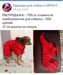 Одежда той-терьер собака щенок, в Иркутске