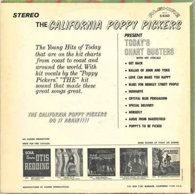 Пластинка California Poppy Pickers - Today s Chart Busters в Санкт-Петербурге Фото 3