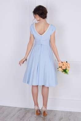 Платье шифоновое в голубом цвете от Scandal Sonya