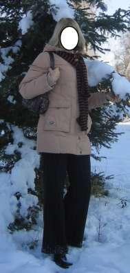 Пуховик светло-бежевый р.44 в Новосибирске Фото 3