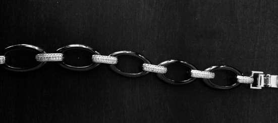 Серебряный браслет (925пр) с керамикой