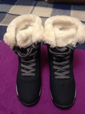 Ботинки темно-синего цвета, зимние в Москве Фото 1