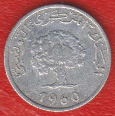 Тунис 1 миллим 1960 г.