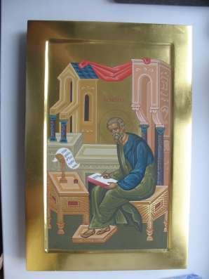 Икона храмовая. Евангелист Матфей. На золоте