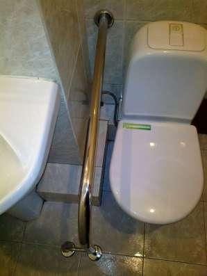 Поручни для инвалидов из полированной нержавеющей стали в Краснодаре Фото 1