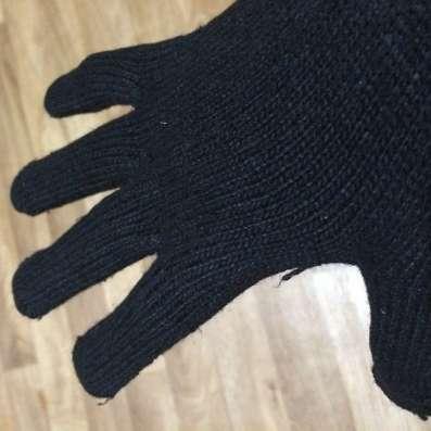 Вязанные мужские перчатки двойные новые черные в Комсомольске-на-Амуре Фото 2