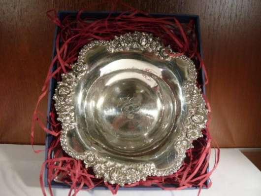 Серебрянная вазочка, антикварная