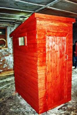 Огромный дачный туалет - места хватит на всех