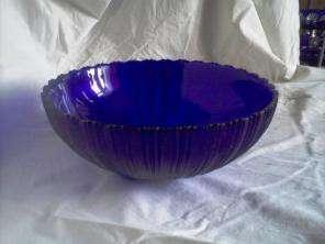 Салатнички синего стекла
