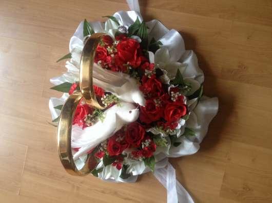Свадебные кольца на машину в Москве Фото 3