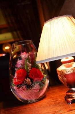 Композиции из живых цветов в стекле на 5 лет !