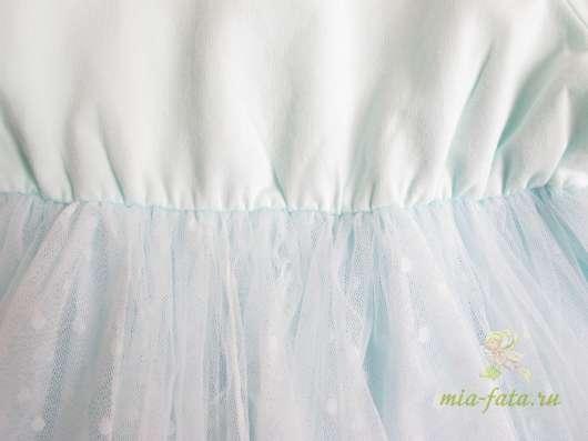 Платье голубое хлопковое в Москве Фото 1