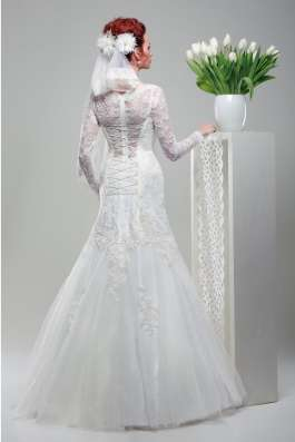 Кружевное свадебное платье-рыбка (русалка) в Москве Фото 1