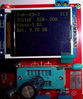 Транзисторный тестер цветной дисплей