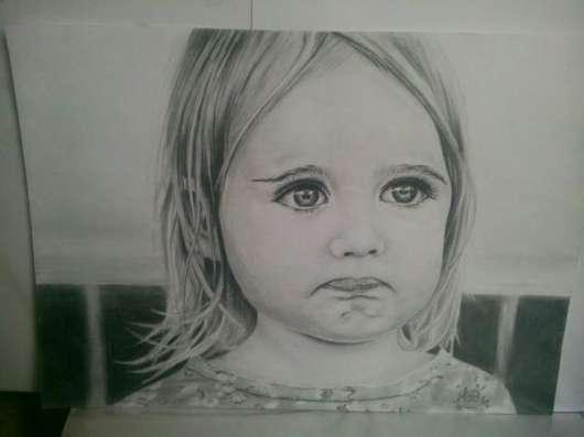 Портрет карандашом по фото на заказ