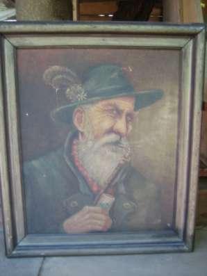 Портрет,х.м.,Германия,подпись справа
