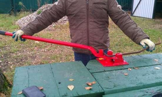 Ручной станок для гибки арматуры диаметром до 16 мм