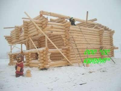 Срубы домов ручной рубки
