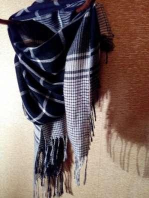 шарф черно-белый в клетку в Санкт-Петербурге Фото 1
