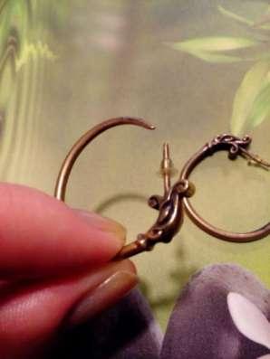серьги-кольца из латуни в Санкт-Петербурге Фото 2