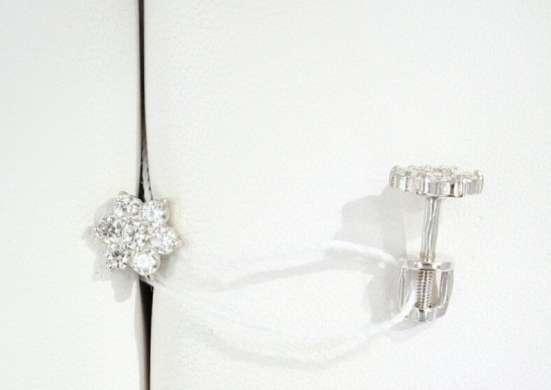 Серебряные серьги цветочки