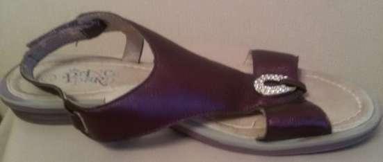 Босоножки фиолетовые, кожа, р-37(38)