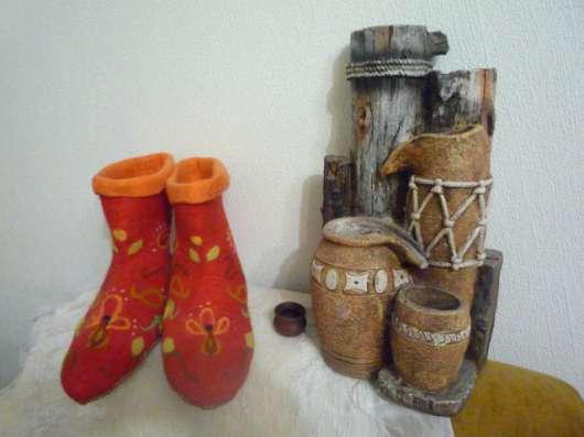 Валяные тапочки из натуральной шерсти в Бердске Фото 2
