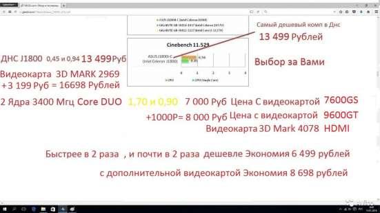 Core 2 Duo 2 ядра 3.4 GHz 2 гига hdmi Wi-Fi Блютус