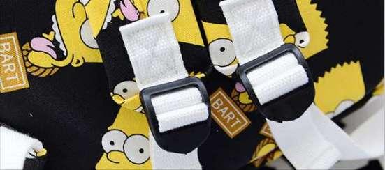 Рюкзак черный белый Барт Симпсоны