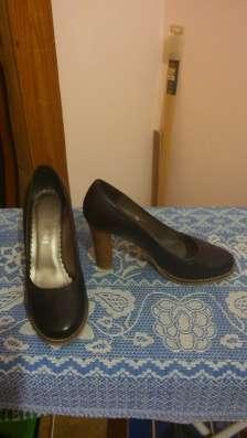 Туфли черного цвета кожа
