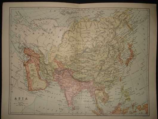Азия, карта Азии с включением Азиатской части России