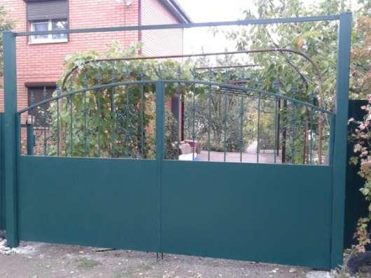 Ворота кованые, ворота калитка заказать, ворота ковка холодная, калитки под заказ в Барнауле Фото 3