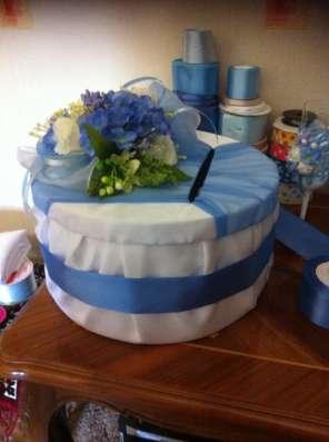 Свадебное оформление в сине-голубом цвете в Казани Фото 3