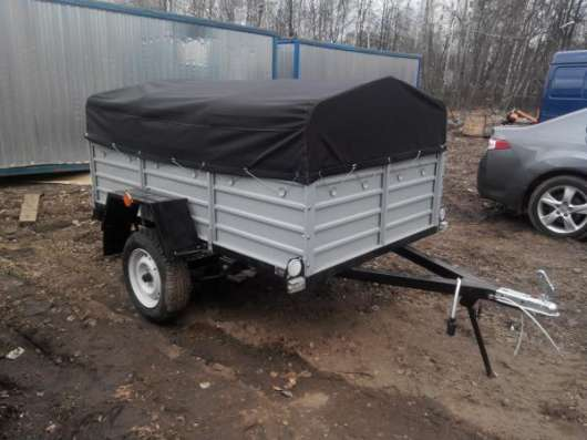Прицеп КРД 050122 для автомобиля с тентом 2150х1300 в Москве Фото 3